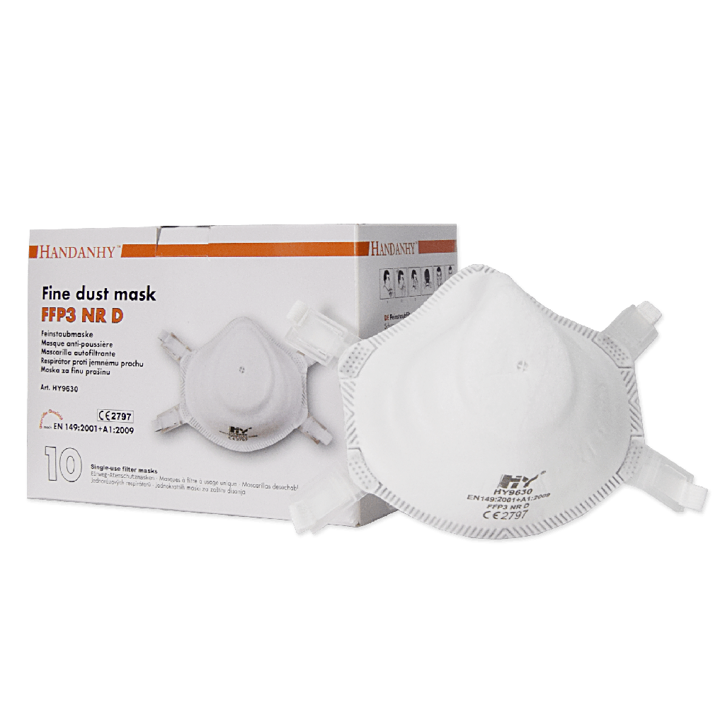 FFP3 - Handanhy 9630 Disposable Unvalved Healthcare Particulate Respirator Mask HY9630
